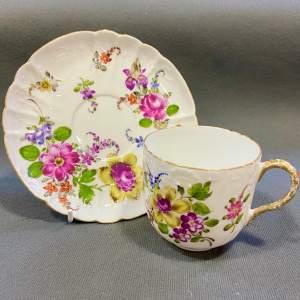 Paris Porcelain Summer Flowers Cup and Saucer