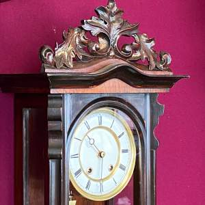 Quality 19th Century Rosewood Vienna Wall Clock
