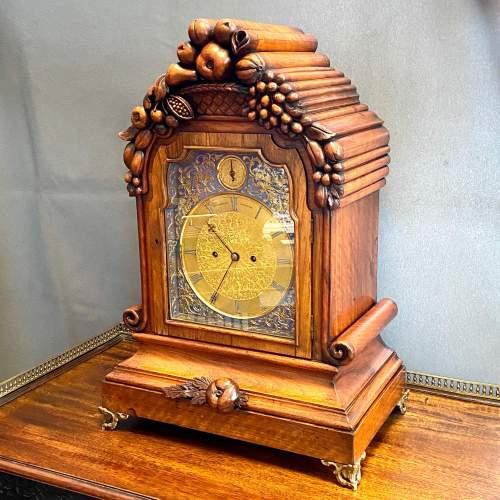 Stunning Early 19th Century Penlington Walnut Cased Boardroom Clock image-1