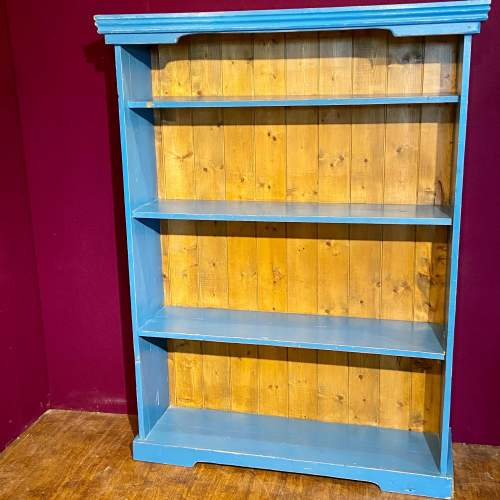 Mid 20th Century Painted Pine Bookcase image-1