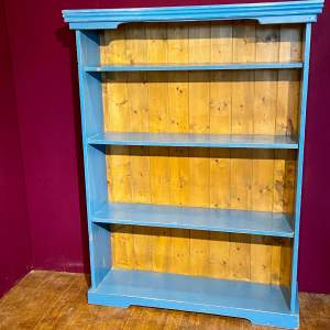 Mid 20th Century Painted Pine Bookcase