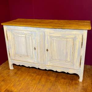 19th Century French Painted Two Door Buffet