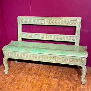 Early 19th Century Swedish Green Painted Bench