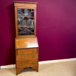 Edwardian Mahogany Sheraton Revival Bookcase