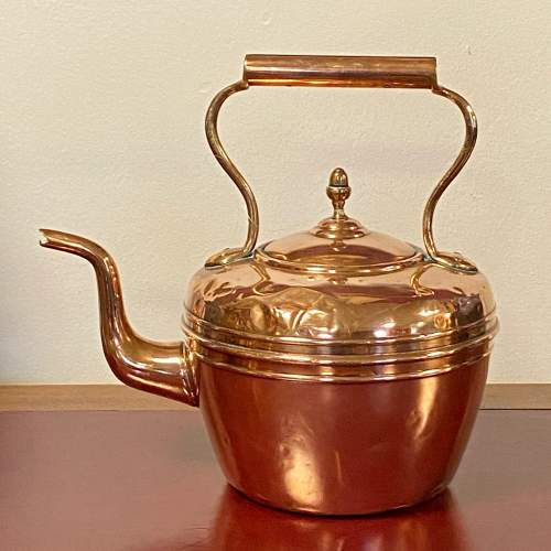 Early 20th Century Round Copper Kettle image-1