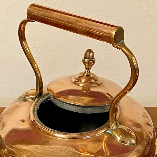 Early 20th Century Round Copper Kettle image-2