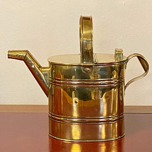 Early 20th Century Brass Watering Can image-1