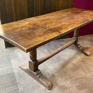 Early 18th Century Oak Refectory Dining Table