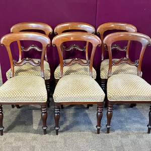 Set of Six Scottish Victorian Mahogany Dining Chairs