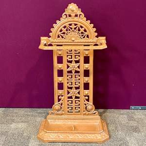 Scottish Cast Iron Victorian Stick Stand