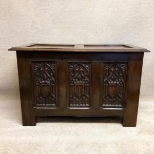 Antique Carved Oak Coffer