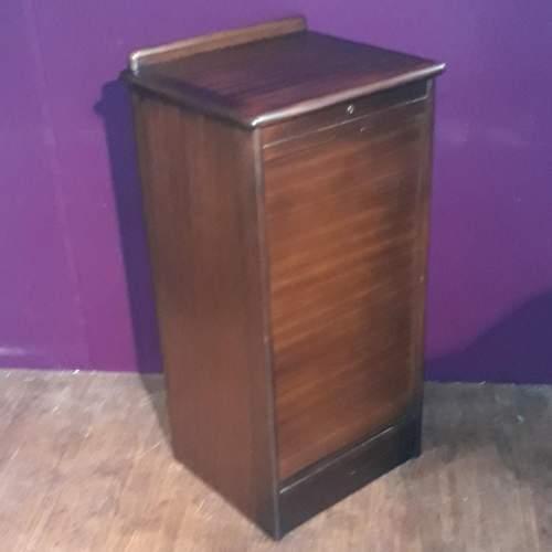 Mahogany Tambour Fronted Filing Cabinet image-2