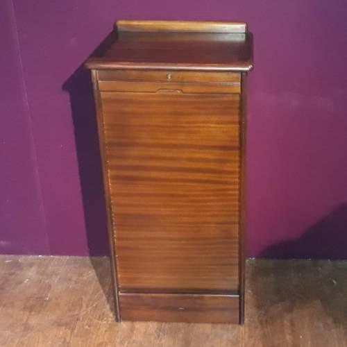 Mahogany Tambour Fronted Filing Cabinet image-1