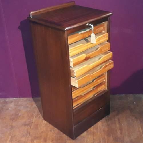 Mahogany Tambour Fronted Filing Cabinet image-3