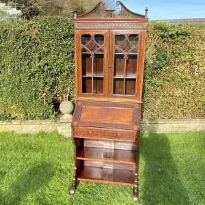 Pretty Edwardian Mahogany Bureau Bookcase
