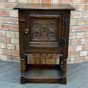 17th Century style Carved Oak Cupboard