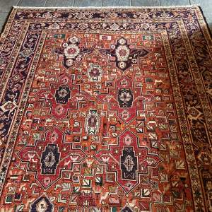 Superb Old Hand Made Persian Sumak Rug Pictorial Design Unusual