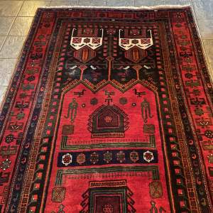 Superb Old Hand Knotted Persian Rug Songhore Wonderful Design