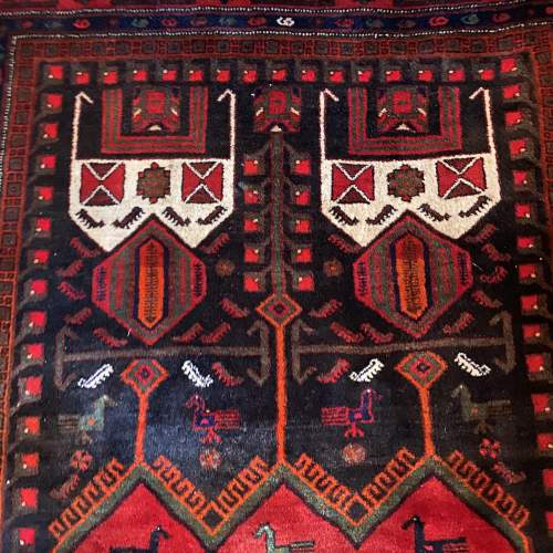 Superb Old Hand Knotted Persian Rug Songhore Wonderful Design image-2