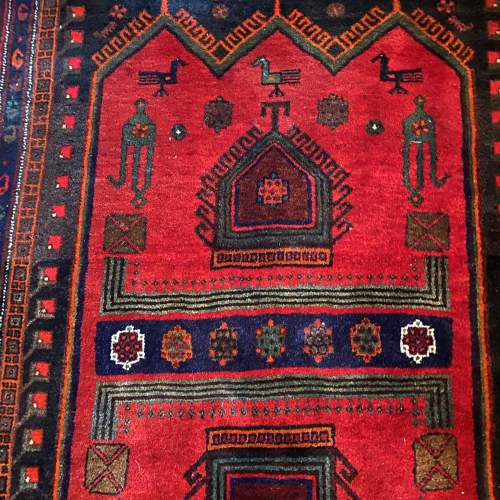 Superb Old Hand Knotted Persian Rug Songhore Wonderful Design image-3
