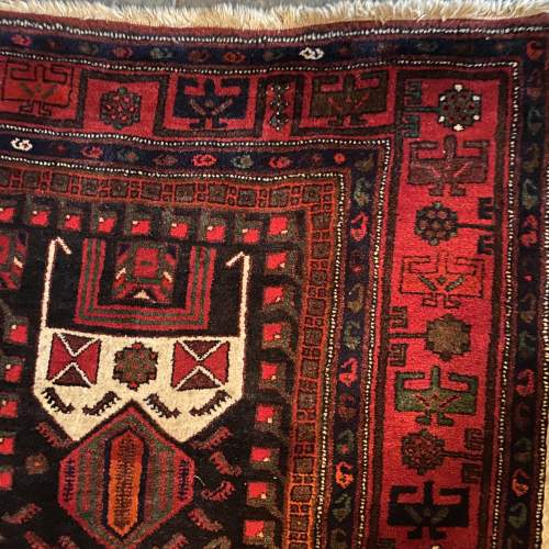 Superb Old Hand Knotted Persian Rug Songhore Wonderful Design image-4