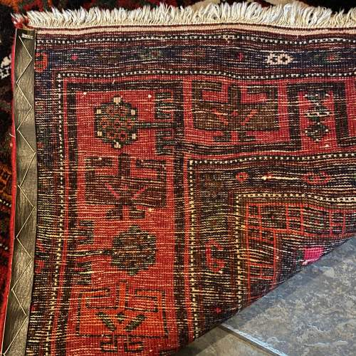Superb Old Hand Knotted Persian Rug Songhore Wonderful Design image-5