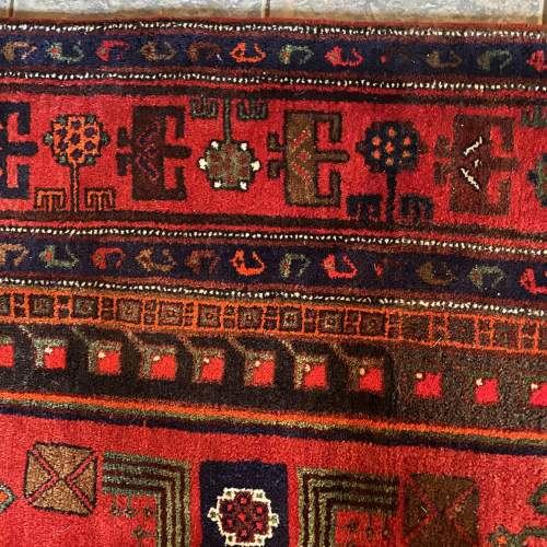 Superb Old Hand Knotted Persian Rug Songhore Wonderful Design image-6
