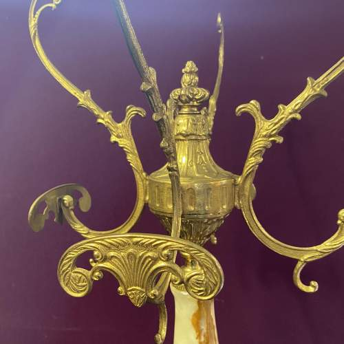Beautiful Brass and Marble Ornate Coat Stand Superb Quality image-3