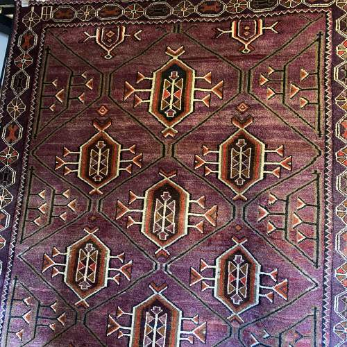 Superb Hand Knotted Afghan Rug Geometric Medallion Design image-1