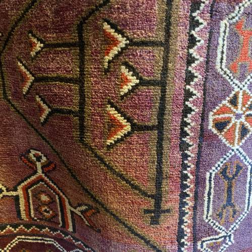 Superb Hand Knotted Afghan Rug Geometric Medallion Design image-3