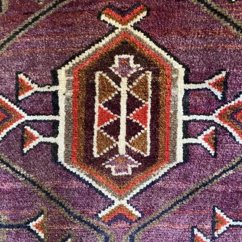 Superb Hand Knotted Afghan Rug Geometric Medallion Design image-5