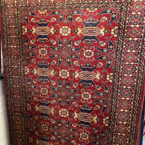 Old Hand Knotted Afghan Rug In All Over Design Superb Colours