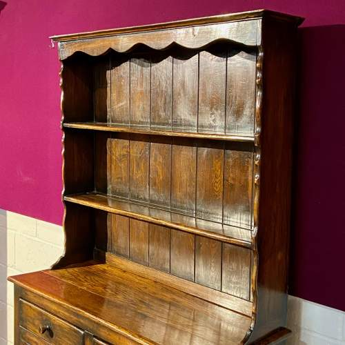 Mid 20th Small Oak Dresser with Plate Rack image-2