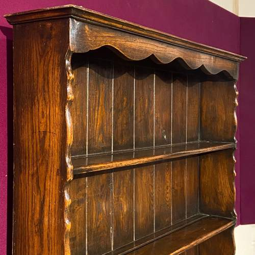 Mid 20th Small Oak Dresser with Plate Rack image-5