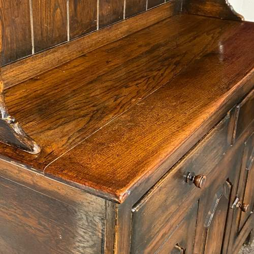 Mid 20th Small Oak Dresser with Plate Rack image-6