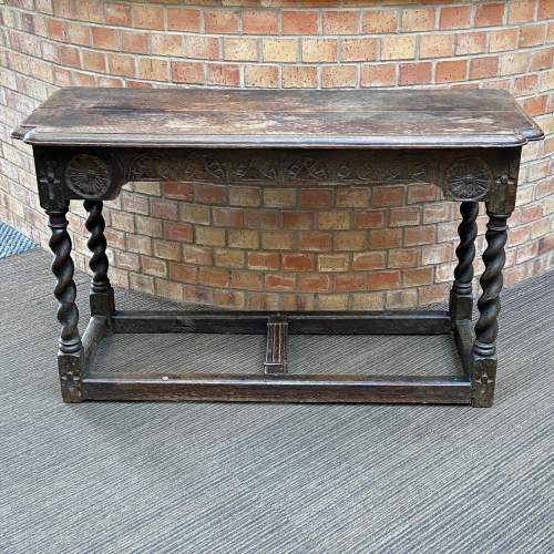 17th Century Carved Oak Reception Table image-2