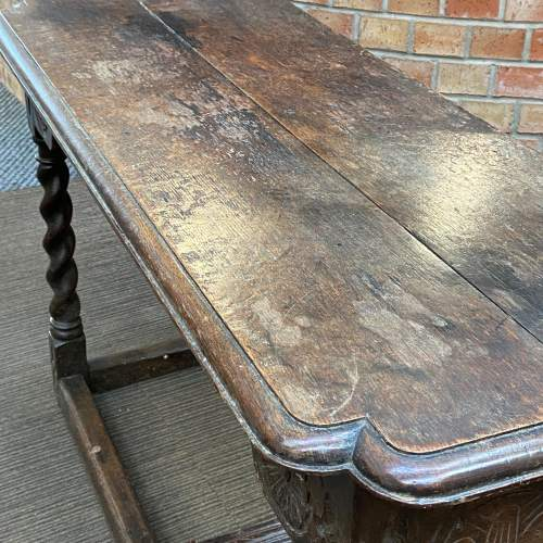 17th Century Carved Oak Reception Table image-3