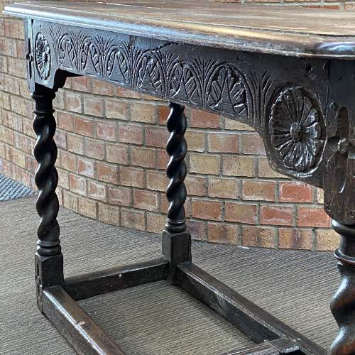 17th Century Carved Oak Reception Table image-6