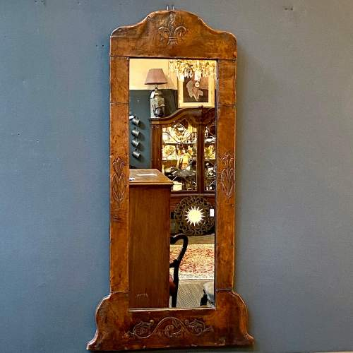 Late 19th Century Leather Framed Wall Mirror image-1