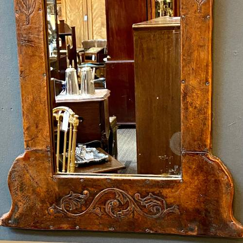Late 19th Century Leather Framed Wall Mirror image-3