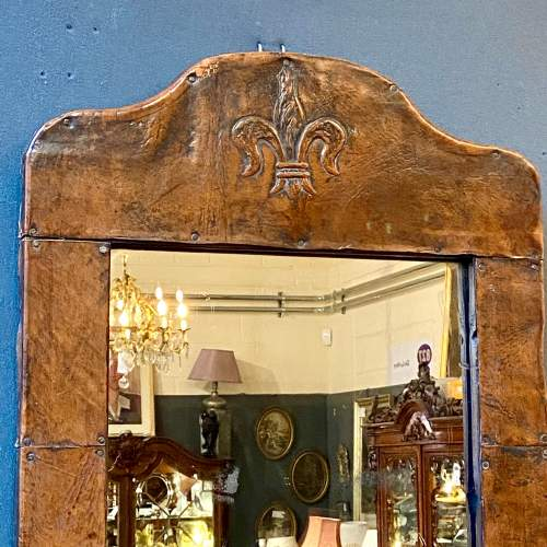 Late 19th Century Leather Framed Wall Mirror image-2