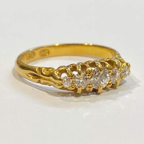 Victorian 18ct Gold Diamond Ring image-1