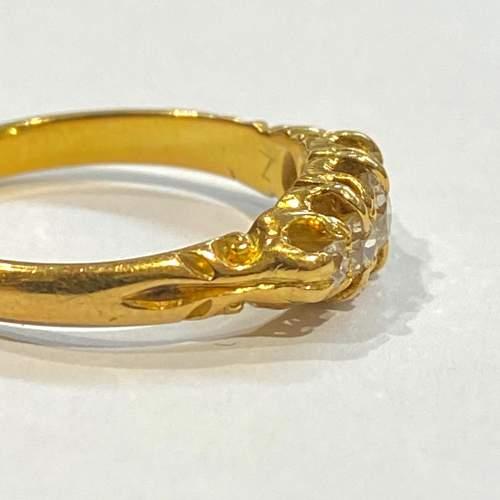 Victorian 18ct Gold Diamond Ring image-3