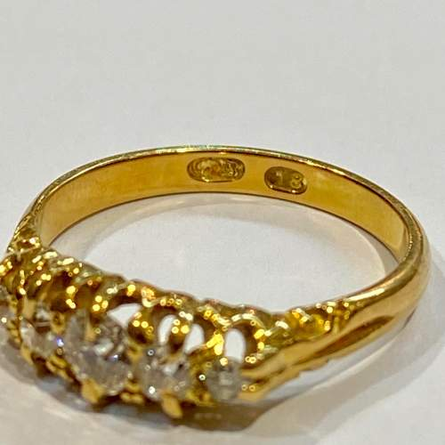 Victorian 18ct Gold Diamond Ring image-4
