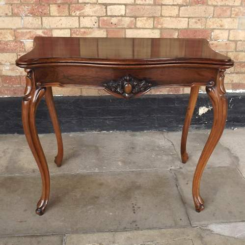 Victorian Rosewood Serpentine Fold Over Concertina Tea Side Table image-4