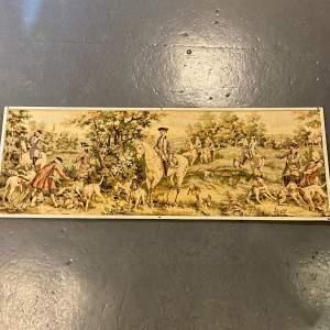 Long Vintage Framed French Tapestry