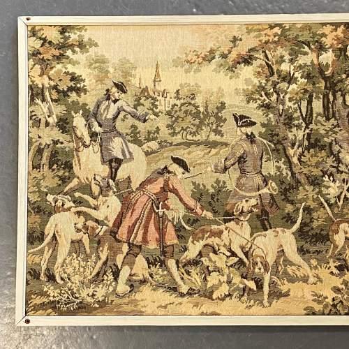 Long Vintage Framed French Tapestry image-2