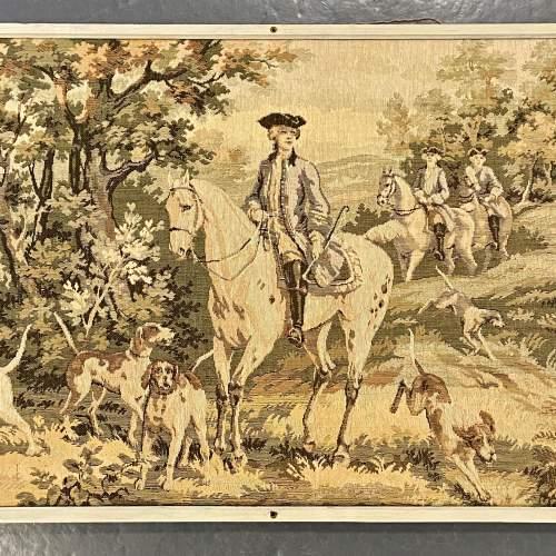 Long Vintage Framed French Tapestry image-3