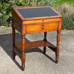 Early Victorian Small Oak Desk