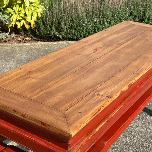 Oriental Style Pine Bench image-3